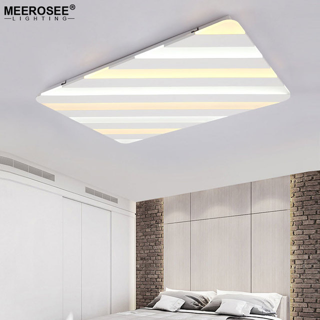 Rectangle Modern LED Ceiling Light For Living Dining Room Alternative Color Lamp Lustre Luminaires