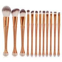 12 Stücke Rose Gold Make-Up Pinsel Gesichts Bilden Blending kontur Pinsel Kosmetik Schönheit Haar Bunte Regenbogen Bilden Pinsel Kits