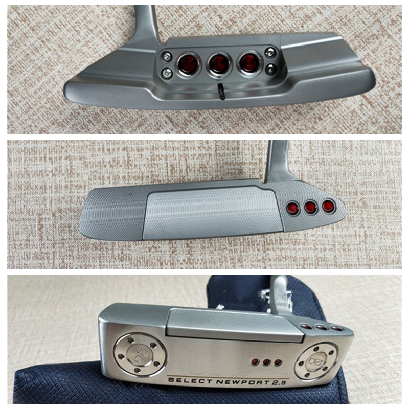 Golf Putter Headcover Clubs SELECT Newport 2.5 Silver With Red Limited Colour Standard-Edition