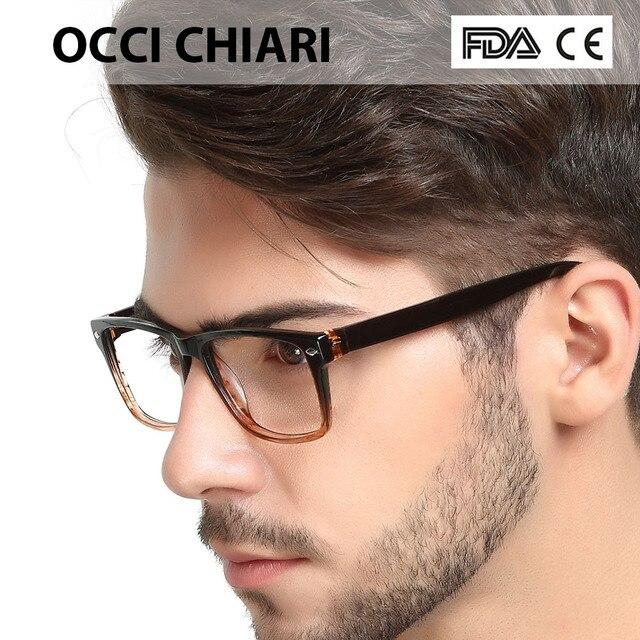 0eba53287b98ac 2018 Óculos de Moda de Alta Qualidade Quadrado Preto Masculino Armação de  Óculos de Acetato Dobradiça