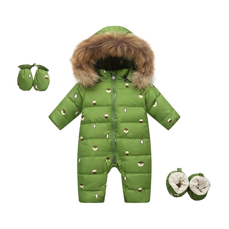 6bef5d062098 2019 New Baby Winter Kids Girls Boys Snowsuit Jumpsuit Baby Down ...
