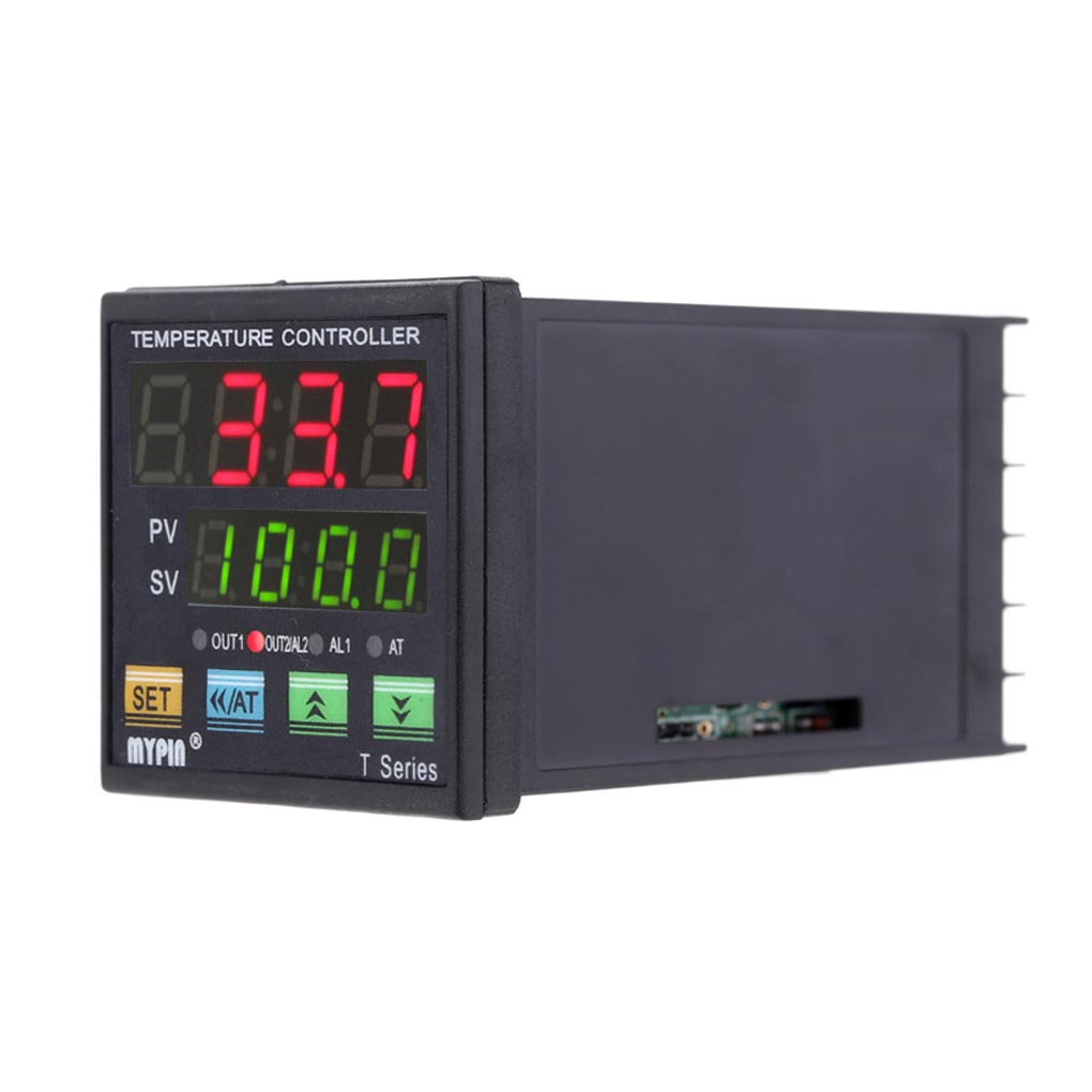 MYPIN Temperature Controller Dual 4 LED Thermostat PID Heating Cooling Control
