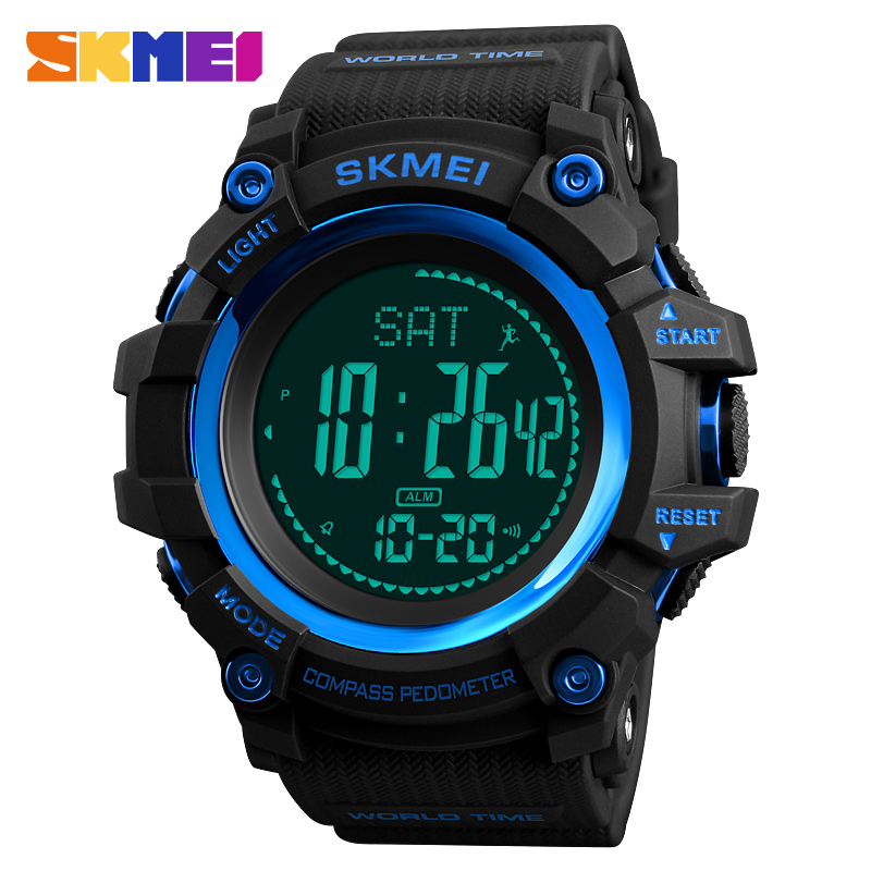 New Compass Watch Men Outdoor Military Calories Pedometer Digital Sports Watches Waterproof Clock Relojes Relogios Masculino new compass watch men outdoor military calories pedometer digital sports watches waterproof clock relojes relogios masculino