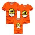 Ojos lindos familia mirada muchacho y madre de Cáscara de huevo de Pato Divertido camisetas A Juego de la Familia Ropa de la Historieta camiseta tops tee shirts DC62