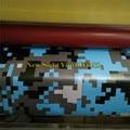 Цифровой детский синий камуфляж виниловая автомобильная пленка для укладки фольги Arctic пиксельный Камуфляжный виниловый автомобильный сти...