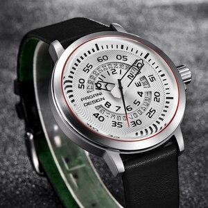 Image 4 - Pagani mens 시계 브랜드 럭셔리 세련된 시계 가죽 스트랩 새로운 다이얼 디자인 회전 달력 밀리터리 쿼츠 시계 남성용