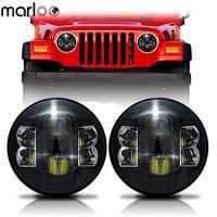 Marloo 2X 7 Inch Round Projector 80W LED Headlights For Jeep Wrangler JK TJ LJ Unlimited