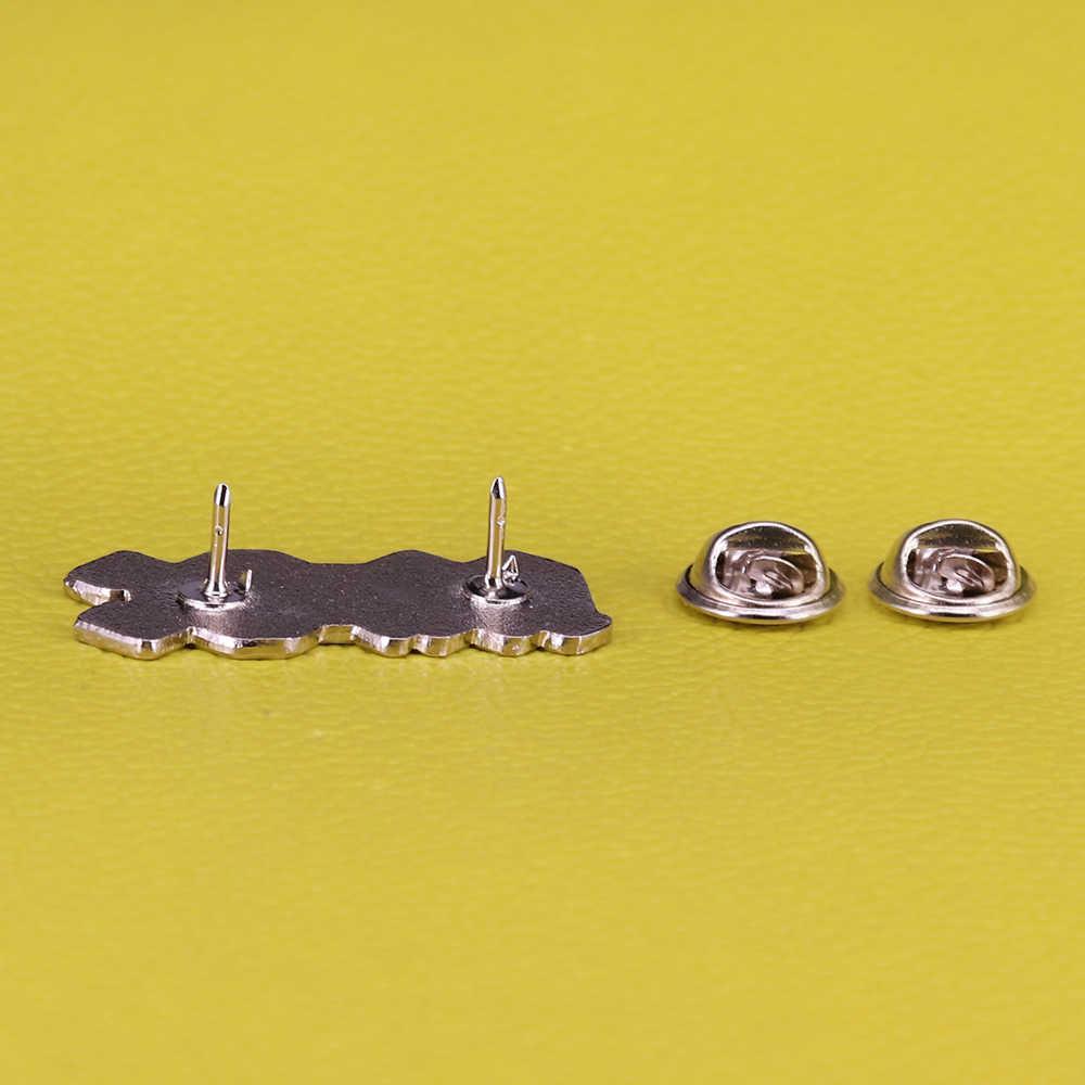 AC/DC Enamel Pin Band Rock Bros 80 S Vintage Musik Lencana Seni Perhiasan Penggemar Heavy Metal Hadiah