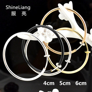 Invisible spring Clip Earrings for women Without piercing Rose gold Bright silver Big Round circle Fashion jewelry Not allergic