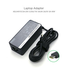 Genuine 20V 2.25A 45W USB-C Type-C Laptop Adapter Charger ADLX45YCC3A for Lenovo ThinkPad 13 Chromebook Type 20GL 20GM Notebook цены онлайн