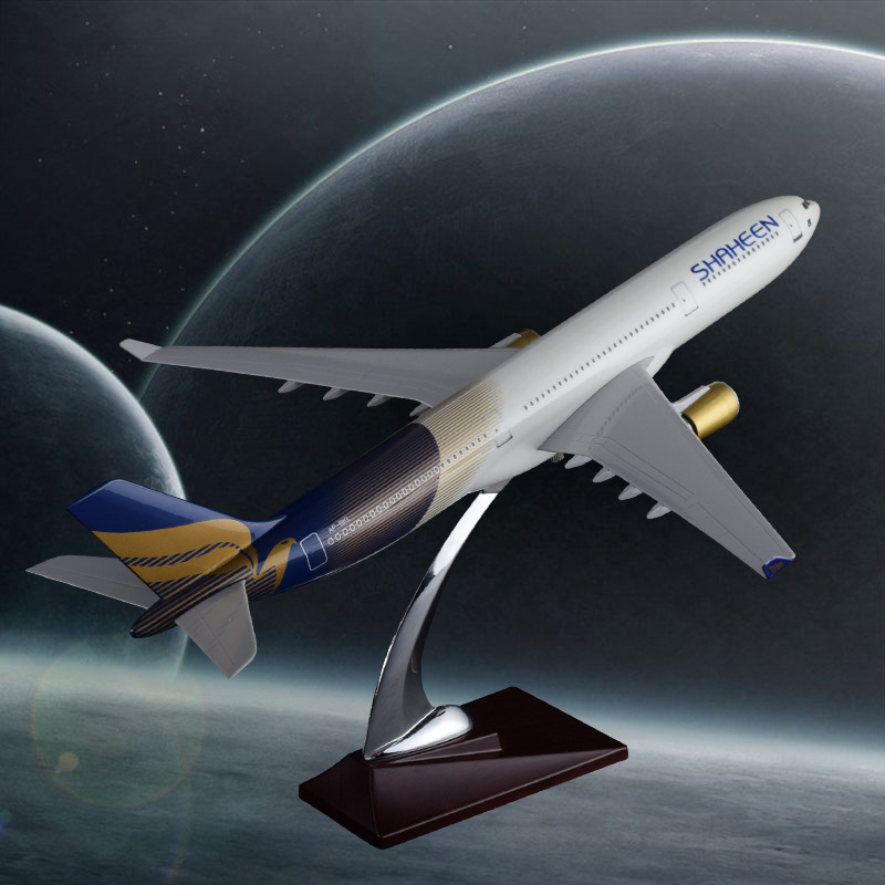 40cm Pakistan Shaheen Air Airbus Model A330 Airplane Airways Resin Aircraft Model Aviation Stand Craft Travel Gift Collection pakistan 1 1 500 000