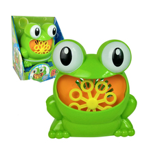 Frog  Automatic Bubble Machine Blower Maker Kids Children Indoor Outdoor Parties Toys Wedding Party Bubble Machine 8 pcs lot 35w bubble machine remote control wireless bubble machine bubble blower maker for stage party wedding concert