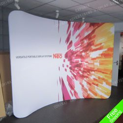 Free shipping to CA!10ft Aluminium Portable trade show exhibition booth without printing