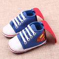 2017 Spring Baby Shoes Newborn Girls Boys Toddler Shoes Canvas Superman Soft Sole Baby Girl Shoes First Walkers 0-1 Years Old