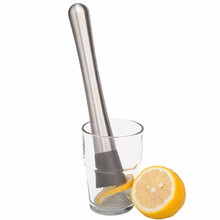 Bartending Bar Lemon Ice Cocktail Stick Drink Tools Bar Stainless steel Wine Minced Rolling Fruit Muddler Shaker Vanilla Min