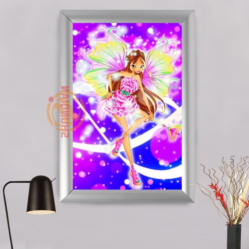 Online-Shop Winx club Aluminium Alloy Malerei Rahmen Home Decor ...