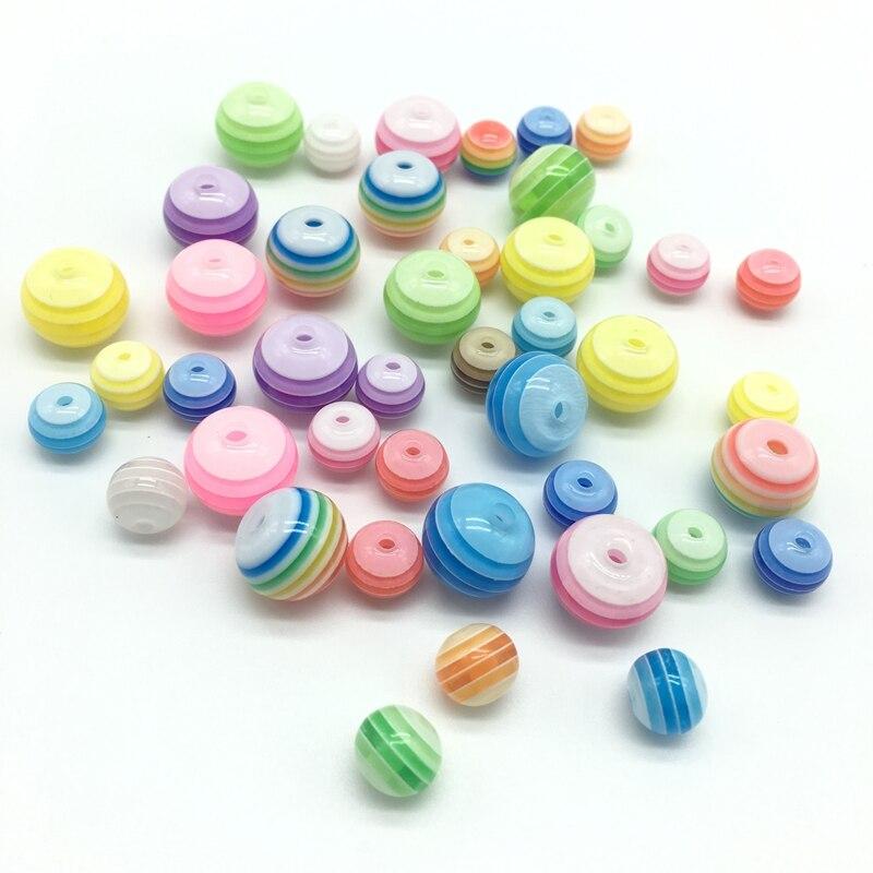 Acrylharz-Kreisregenbogen-Streifen bördelt Halskettenzusätze der - Modeschmuck - Foto 6