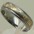 gold plating roman no.s shiny & brush sratch proof hi tech tungsten ring