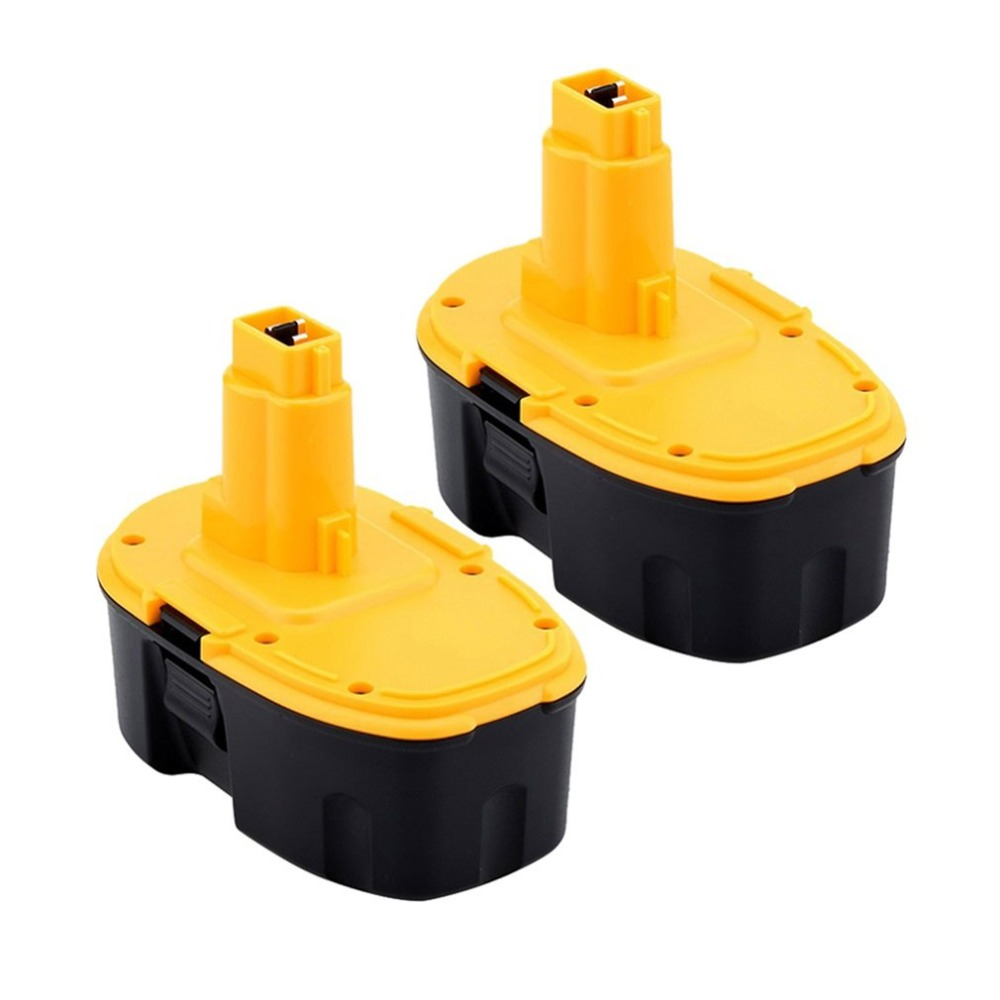 2PCS New 18V 3Ah NI-MH Rechargeable Battery Cordless Drill Replacement Battery for DEWALT DC9096 DE9095 DW9098 DW9095 3.0AH батарея аккумуляторная для инструмента pitatel для dewalt de9503 dc9096 de9039 de9095 de9096 dw9096 dw9095 2 6ah 18v