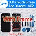 Para xiaomi mi2 pantalla lcd + pantalla táctil con el marco del nuevo panel de cristal del digitizador para xiaomi 2 m2 2 s-en stock