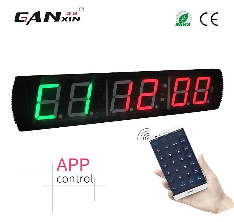 [Ganxin] 4-дюймовый тренажерный зал Кроссфит таймер, время тренировки и время отдыха, а также не будут поочередно - Цвет: GI2G4R-app control