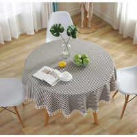 Gestreiften Tisch Tuch Runde Tischdecke Nappe Tisch Abdeckung Party Hochzeit Tisch Tuch für Haus Tisch Dekoration Kaminsims Hause Textil