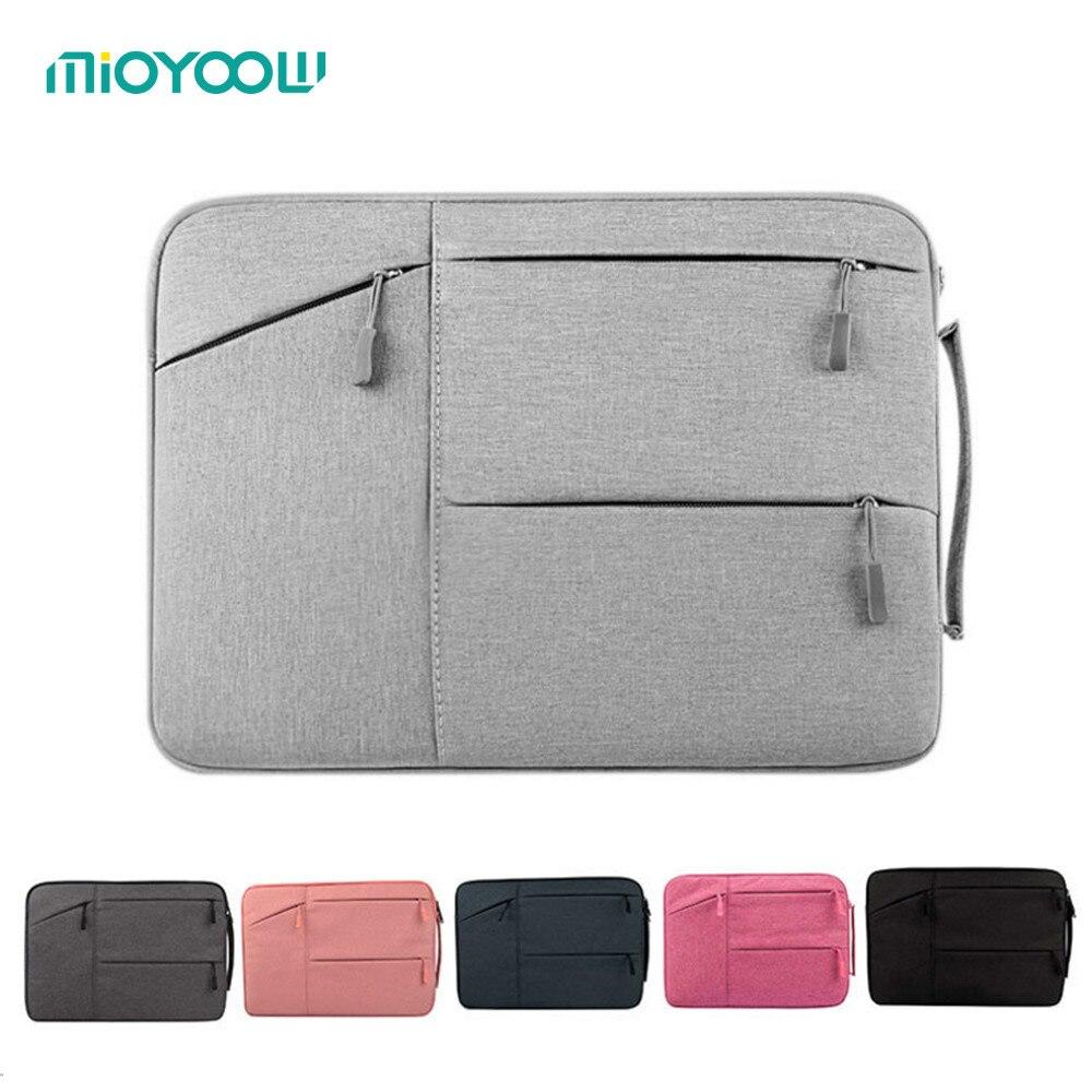 Borse per notebook Notebook Sleeve Custodia per Dell HP Asus Acer Lenovo Macbook 11 12 13 14 15 15.6 pollice Soft Cover per Retina Pro 13.3