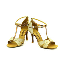 YOVE Dance Shoe Satin Women's Latin/ Salsa Dance Shoes 3.5″ Slim High Heel More Color w133-2