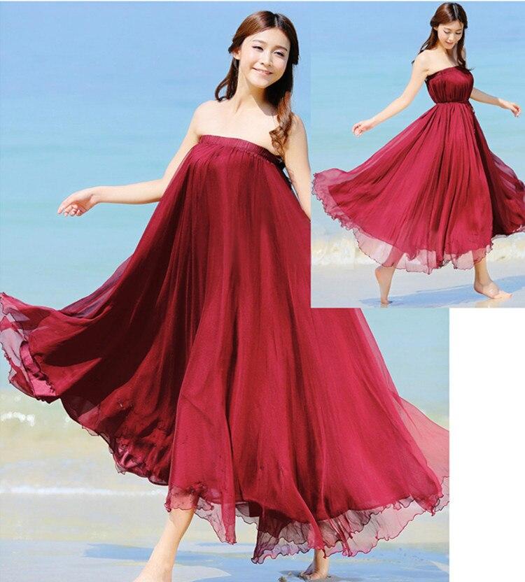 Sherhure 19 High Waist Women Chiffon Long Skirts Floor Length Ruffles White Summer Boho Maxi Skirt Saia Longa Faldas 24