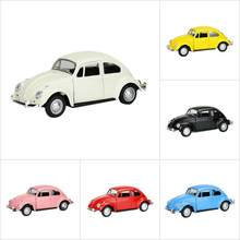 1:32 Alloy Retro Classic Beetle Mini Car Toys Beetle Car Model For Kids Gift Table Decor(China)