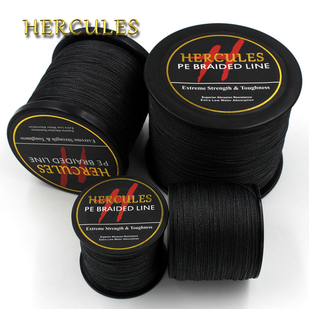 4 Strands 100M 300M 500M 1000M 1500M 2000M PE Black Hercules Braided Fishing Line Saltwater Weave Extreme SuperPower все цены