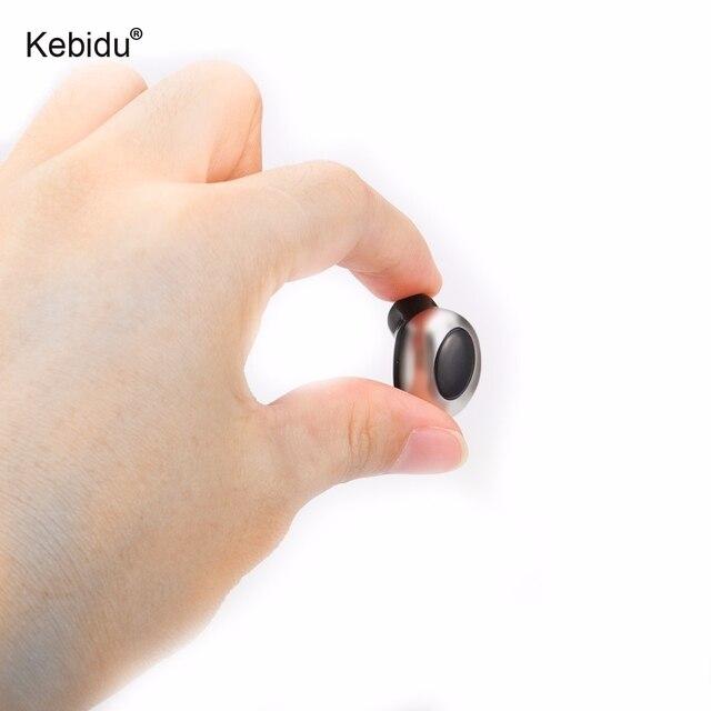 US $7 15 32% OFF|kebidu Mini bluetooth kit hidden invisible earpiece micro  wireless Handsfree headset bluetooth earphone headphone with Mic-in
