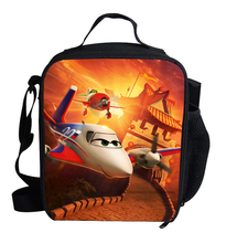 Newest Pixar Planes Cartoon printing Thermal Insulated Lunch Bag for Girls Boys Kids Picnic Shoulder Bags For Snacks Students