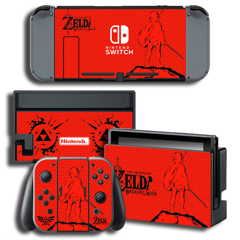 Vinyl Skin Protector Sticker for The Legend of Zeld a for Nintendo Switch NS Console + Controller + Stand Holder Skins 1