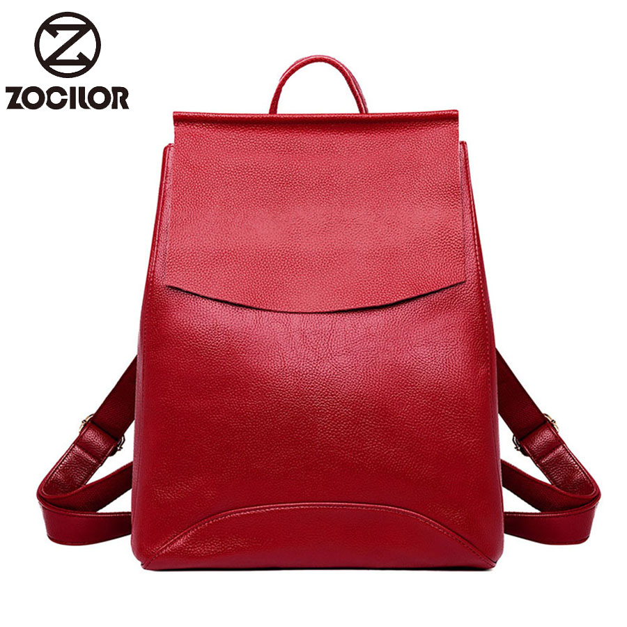 Women Soft Leather Backpacks High Quality Vintage Bagpack Ladies Sac A  School Bags For Girls Female Travel Shoulder Bag