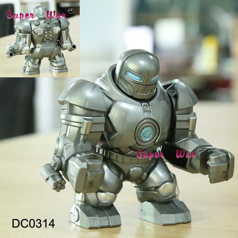 Single Big Size Marvel Iron  Man Hulkbuster Hulk Buster Thanos Venom Carnage Deadpool Batman  Building Blocks Toys