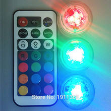 1x Wedding Decoration Remote Control Submersible LED Party Tea Table Mini Light With Battery Christmas Vase Hookah Halloween(China)
