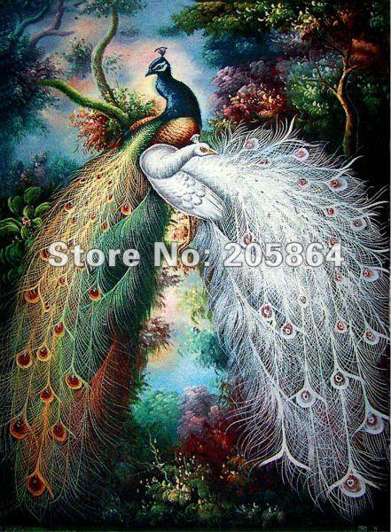 Envío gratis hot sales gobelin, hermosa imagen de tela de pavo real - Textiles para el hogar