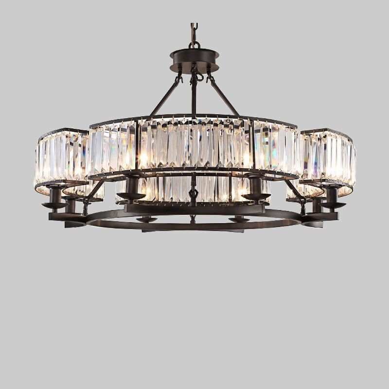 DX crystal chandelier lighting chandelier modern cristal chandelier living room bedroom lamp chandeliers ceiling Desinger's lamp black crystal chandelier light modern black chandelier lighting bedroom dining room living lobby lamp lighting candle bulb