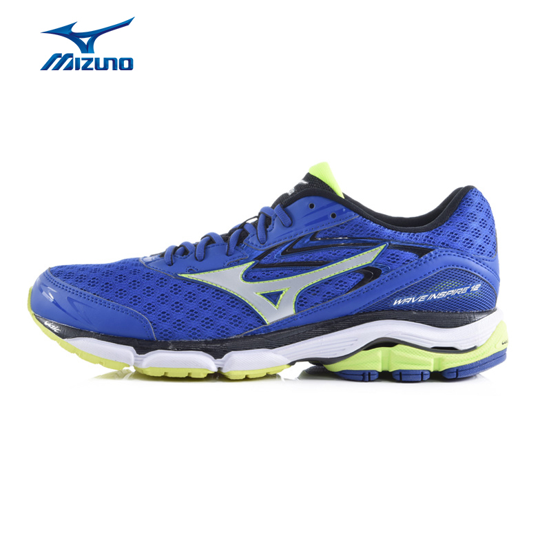 MIZUNO Men WAVE INSPIRE 12 Mesh Breathable Cushioning Jogging Running Shoes Sneakers Sport Shoes J1GC164403 XYP371 mizuno mizuno wave legend