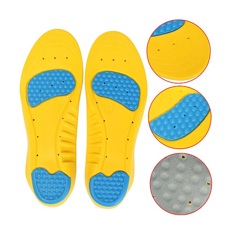 Pair of Memory Foam Orthotic Arch Support Boot Shoes Insoles Insert Pad Comfortable Soft Breathable