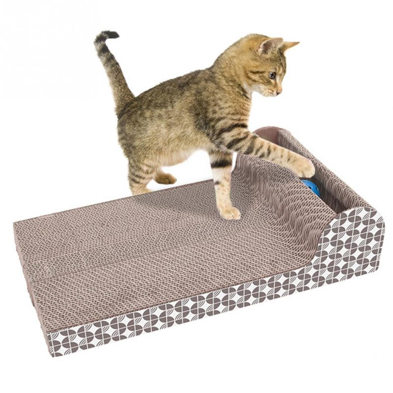 New Pet Cat Toy Scrath Large Plate Horizontal Corrugated Sofa Cat Scratcher