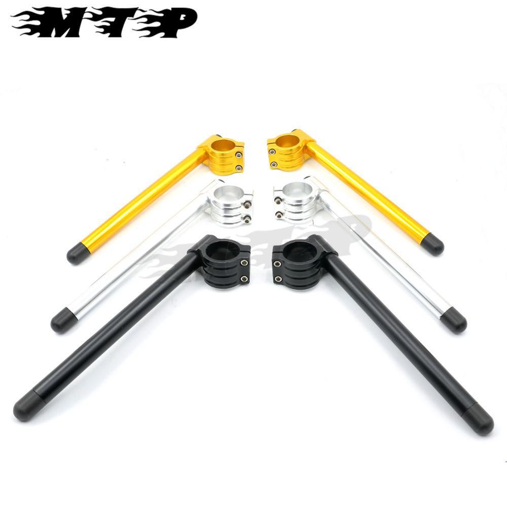 CNC 51MM Clip On Handlebar Adjustable Fork Tube Handle Bar For Aprilia RSV4 RF RR SPRC Factory APRC 1000 2009-2015 22MM Handgrip