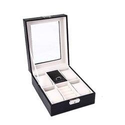 Top Verkauf Mode Wahl Schmuck Box Tasche Erweiterte Leder Ring Boxen Ohrringe Jewel Fall 2019 Concise Mädchen Hochzeit Geschenk JB-32