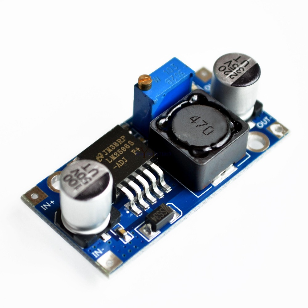 Official LM2596 DC-DC Input <font><b>4V</b></font>-35V Output 1.23V-30V Adjustable Step-down Power Supply Regulator Module DIY Robot Control Kit image