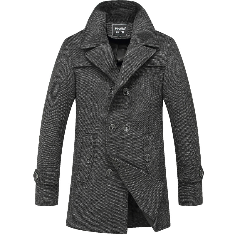 2014 winter men 39 s wool coat long windbreaker jacket trench. Black Bedroom Furniture Sets. Home Design Ideas