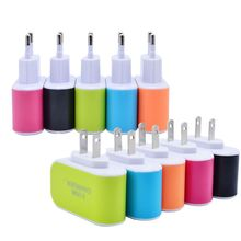 EU AND US Plug 2 Ports USB Charger 5V 2A Mobile Phone Device Data Charging For iPhone 5 6 iPad Samsung