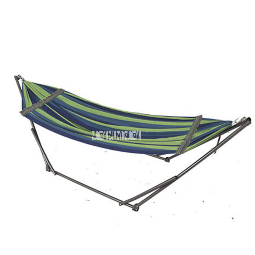 DF-Z04 With Bracket Home Hammock Indoor Outdoor Hammock Rocking Chair Office Lunch Break Folding Chair Swing
