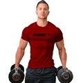 2016 Gymshark algodão camisetas camisa masculina hombre camiseta Musculação e fitness homens da camisa do Músculo dos homens sportswear