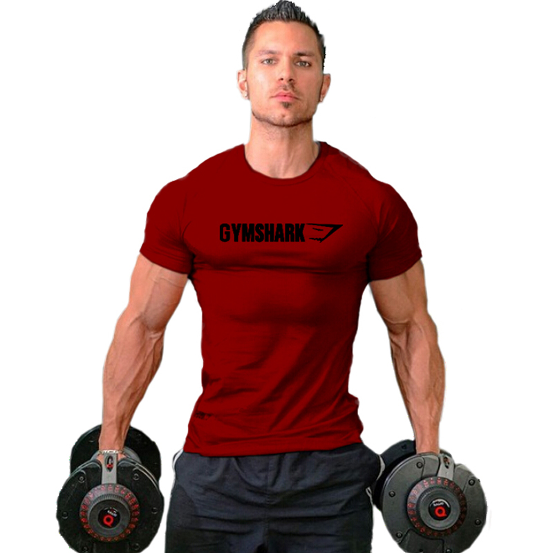 2016 gymshark cotton camisetas camisa masculina hombre t for Fitness gym hombres